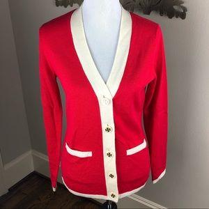 Tory Burch Red Cardigan Sweater